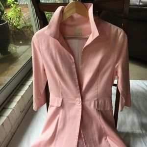 Ballet Pink Textured Swing Coat